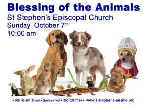 Blessing of the Animals Oct 7 10:00 am